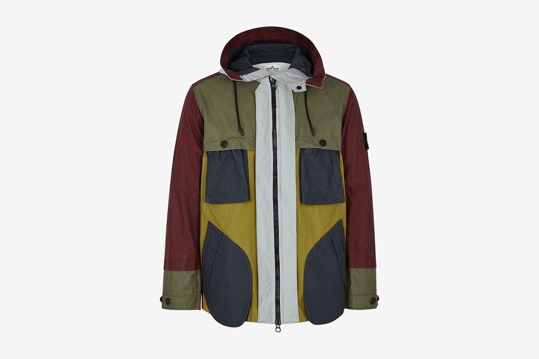 Panelled Coated Jacket