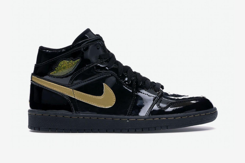 Air Jordan 1 Patent Noir/Or