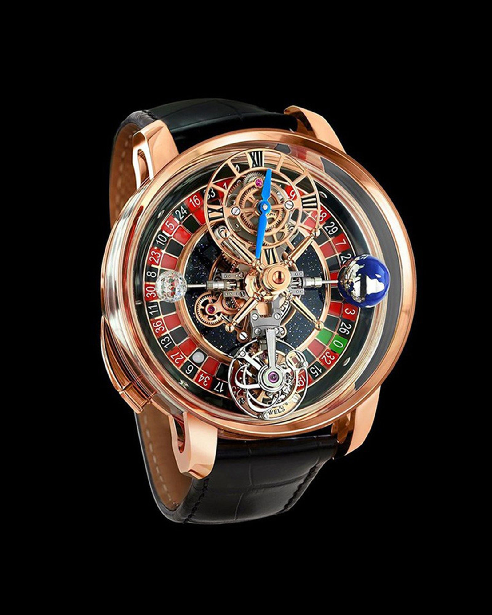 Jacob & Co. Astronomia Casino watch, with working roulette wheel.  $620,000.