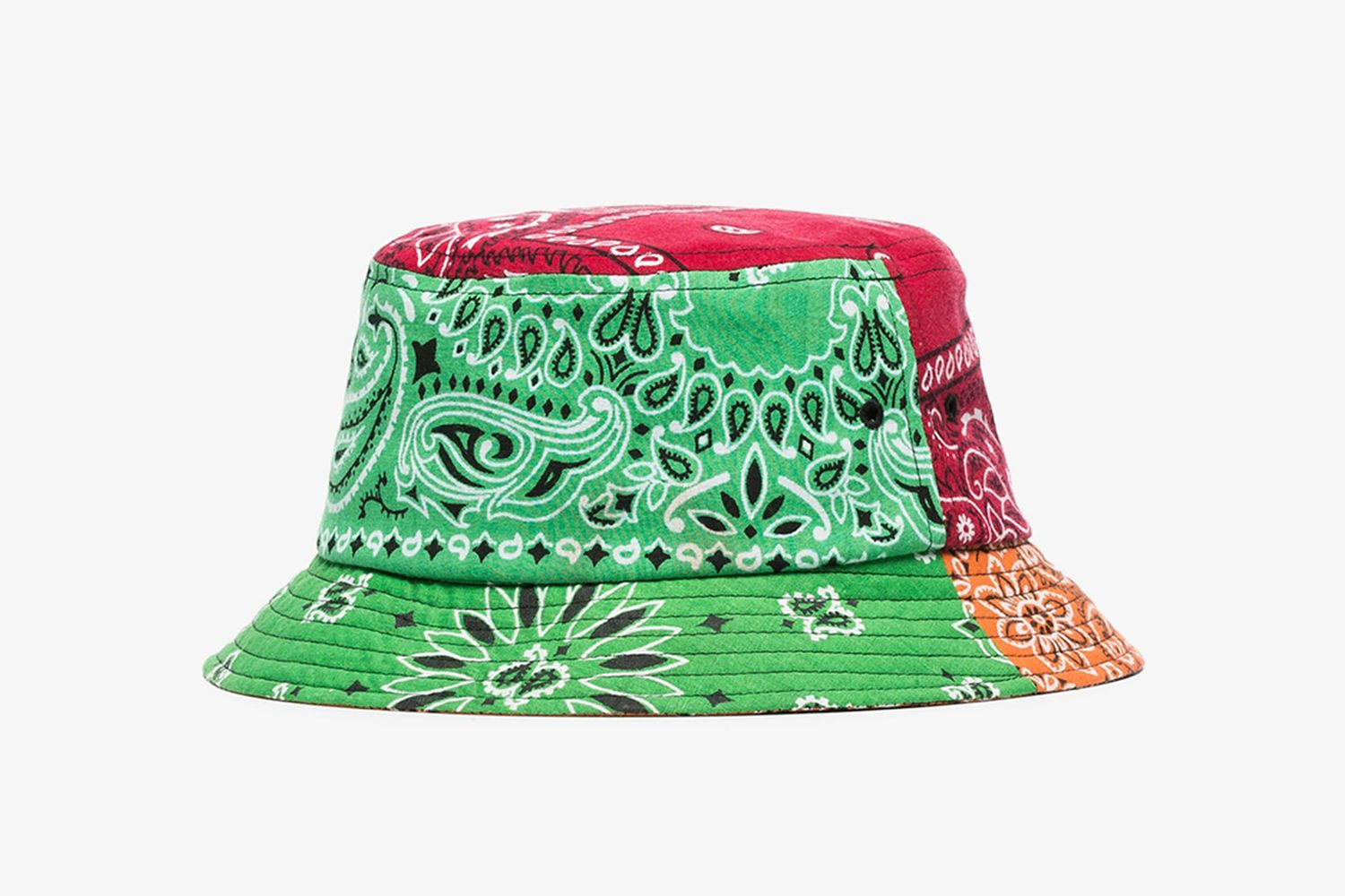 Multicoloured Bandanna Print Bucket Hat