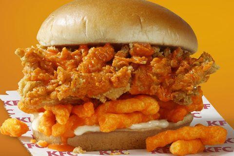 kfc cheeto burger