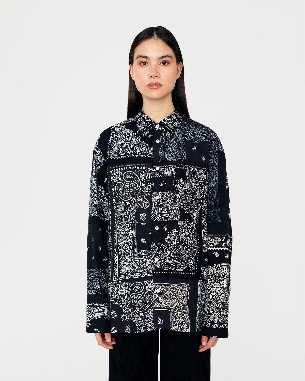 Miyagihidetaka Bandana Shirt Black - Image 3