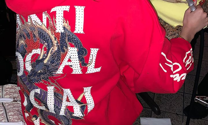 Anti Social Social Club Ed Hardy red hoodie