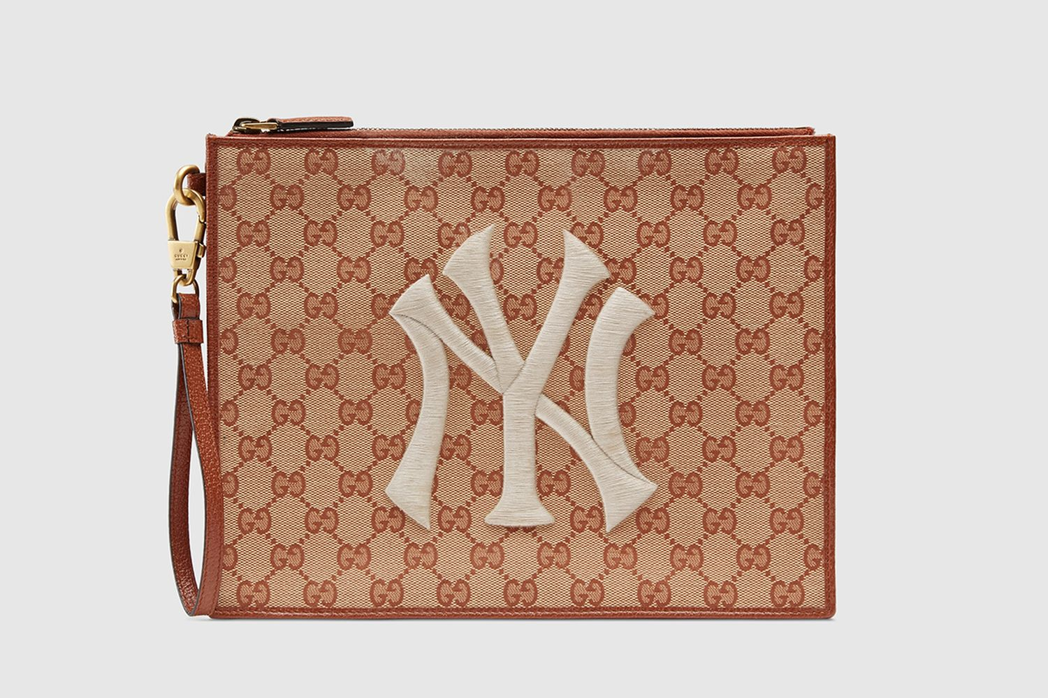 Original GG Pouch With NY Yankee Patch