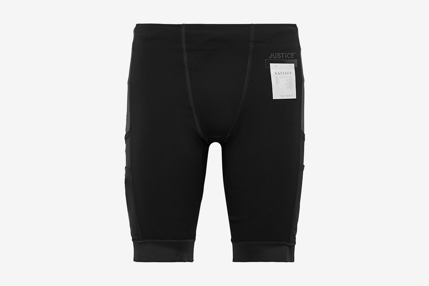 Coldblack-Panelled Justice Compression Cargo Shorts
