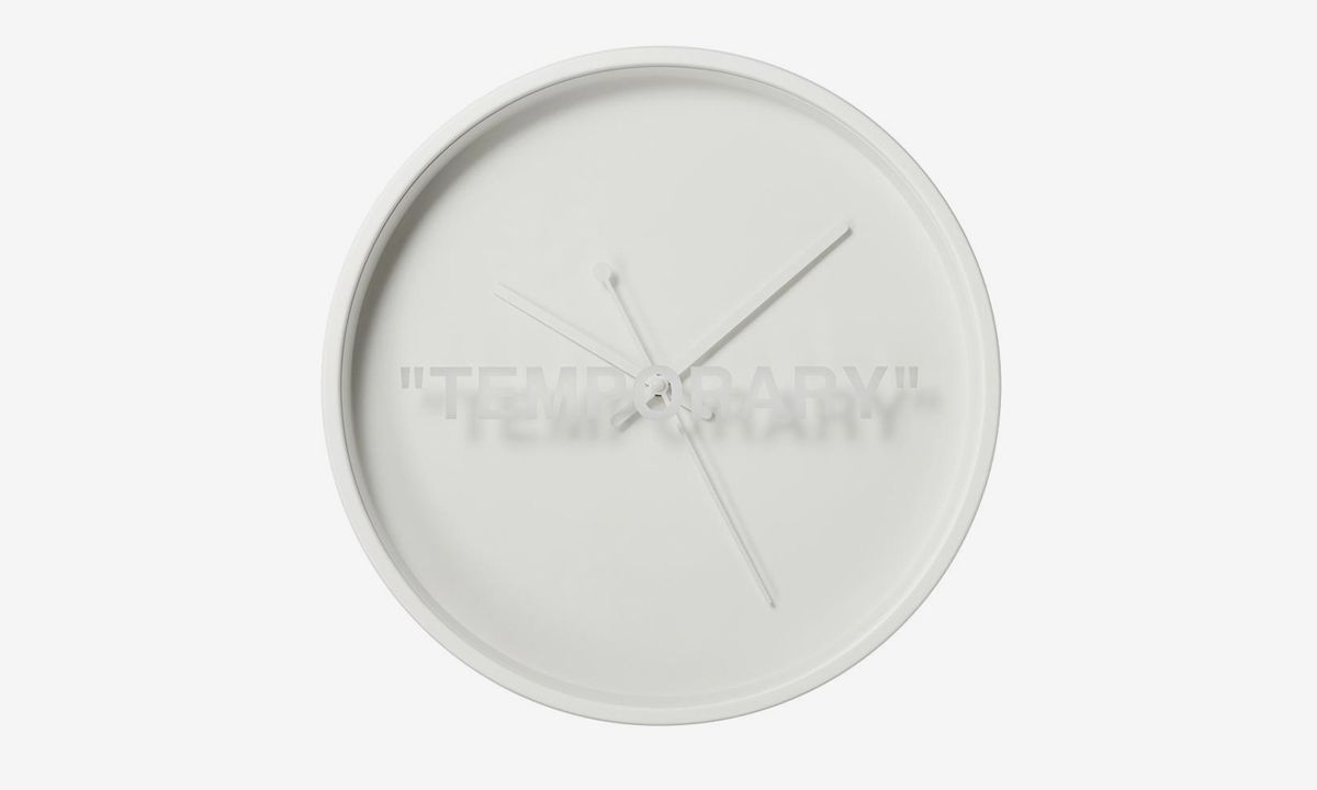 """The Virgil Abloh x IKEA """"MARKERAD"""" Wall Clock Surprise-Drops in France"""