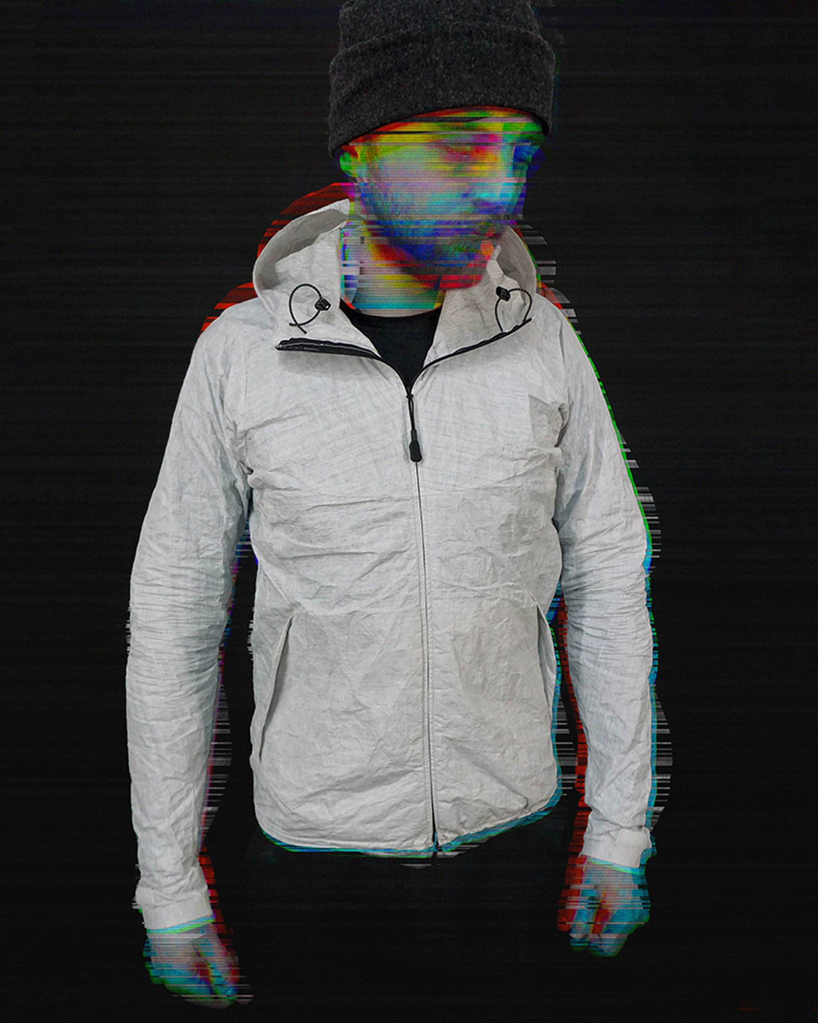 The world's lightest technical jacket, designed by Vancouver-based designer Ender Severin.