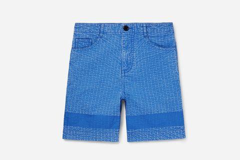 Acid-Washed Shorts