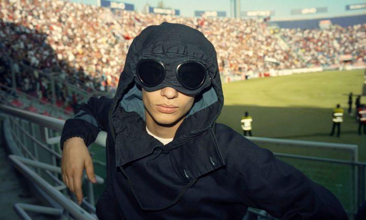 C.P. Company x One Block Down Goggle Anorak Jacket Indigo Blue