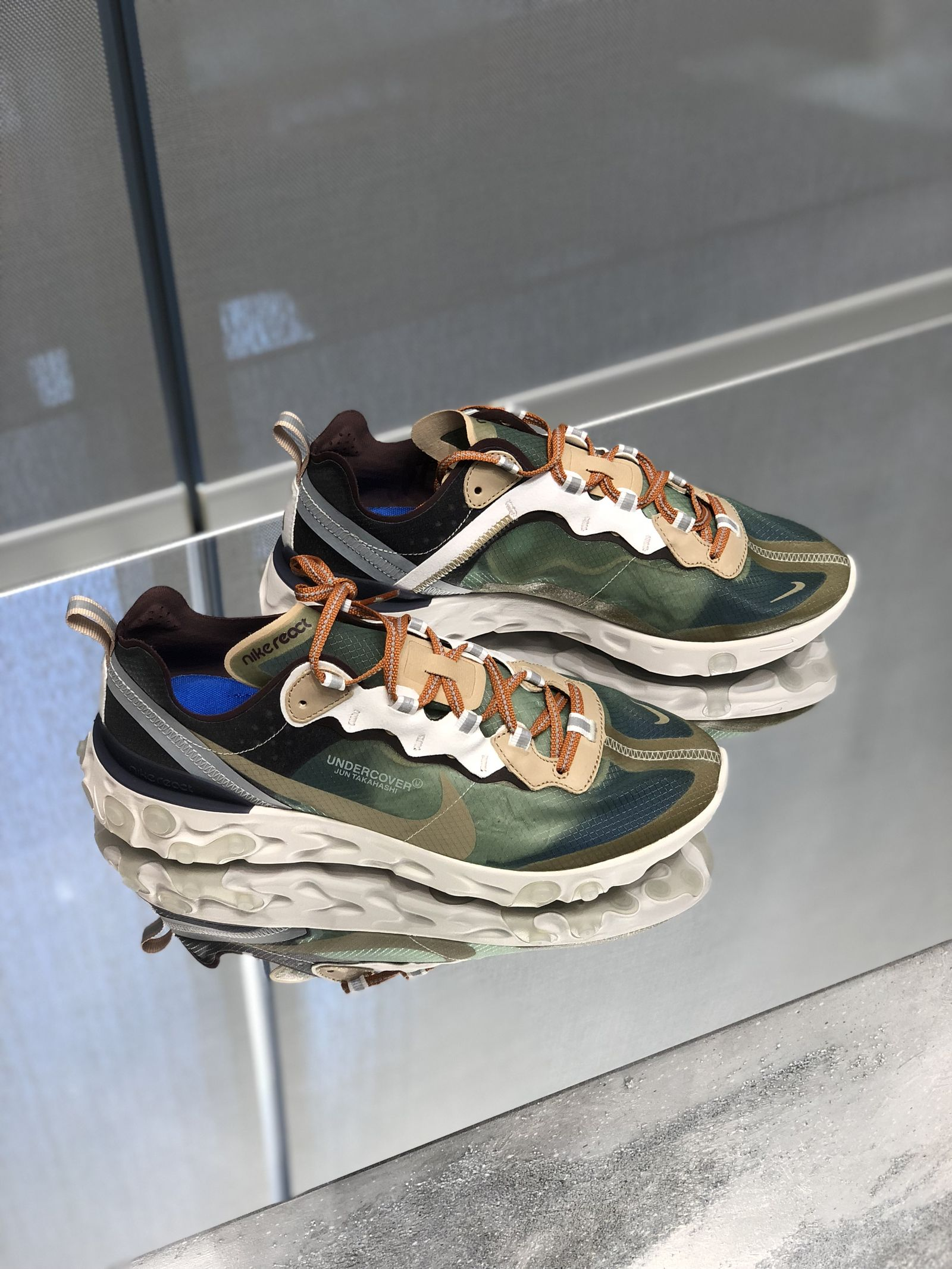 undercover nike react element 87 green mist