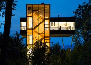 Modern Treehouse Tower by Gluck+ Architects