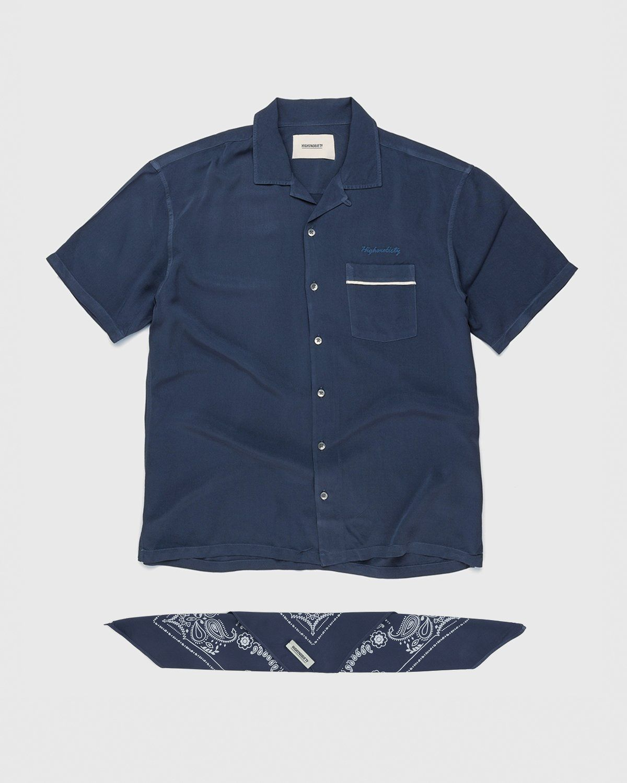 Highsnobiety – Bowling Shirt Navy - Image 1