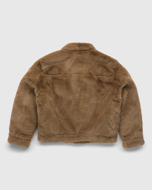 Acne Studios – Boxy Faux Fur Jacket Beige - Image 2