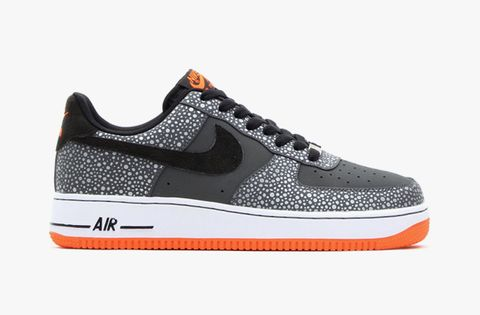 quality design 01ffd 9ce6c Nike drops the Holiday 2013 edition of the Air Force 1 low in a dark grey  black total orange colorway. Solid grey and white-speckled grey leather  make up ...