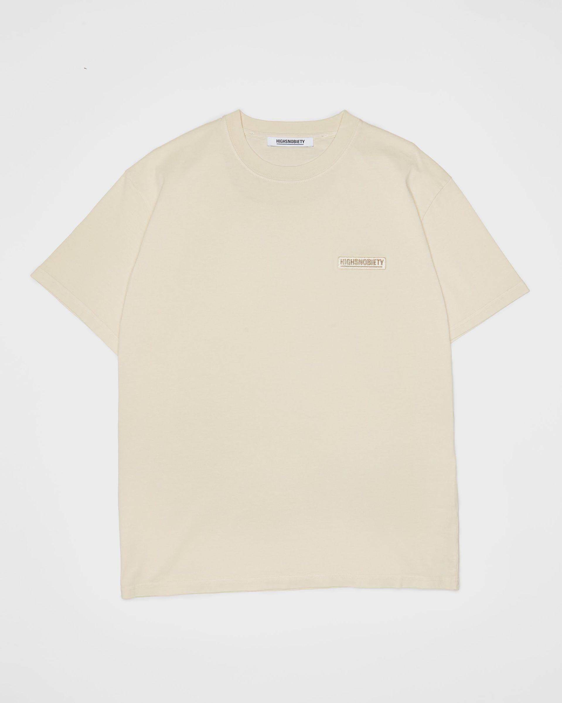 Highsnobiety Staples - T-Shirt Eggshell - Image 1