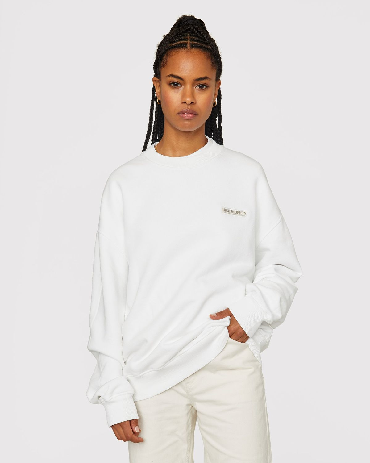 Highsnobiety Staples — Sweatshirt White - Image 6