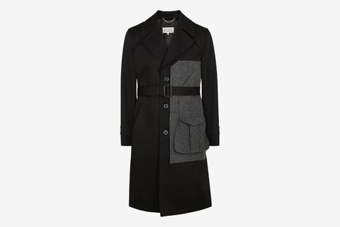 Panelled Wool Trench Coat