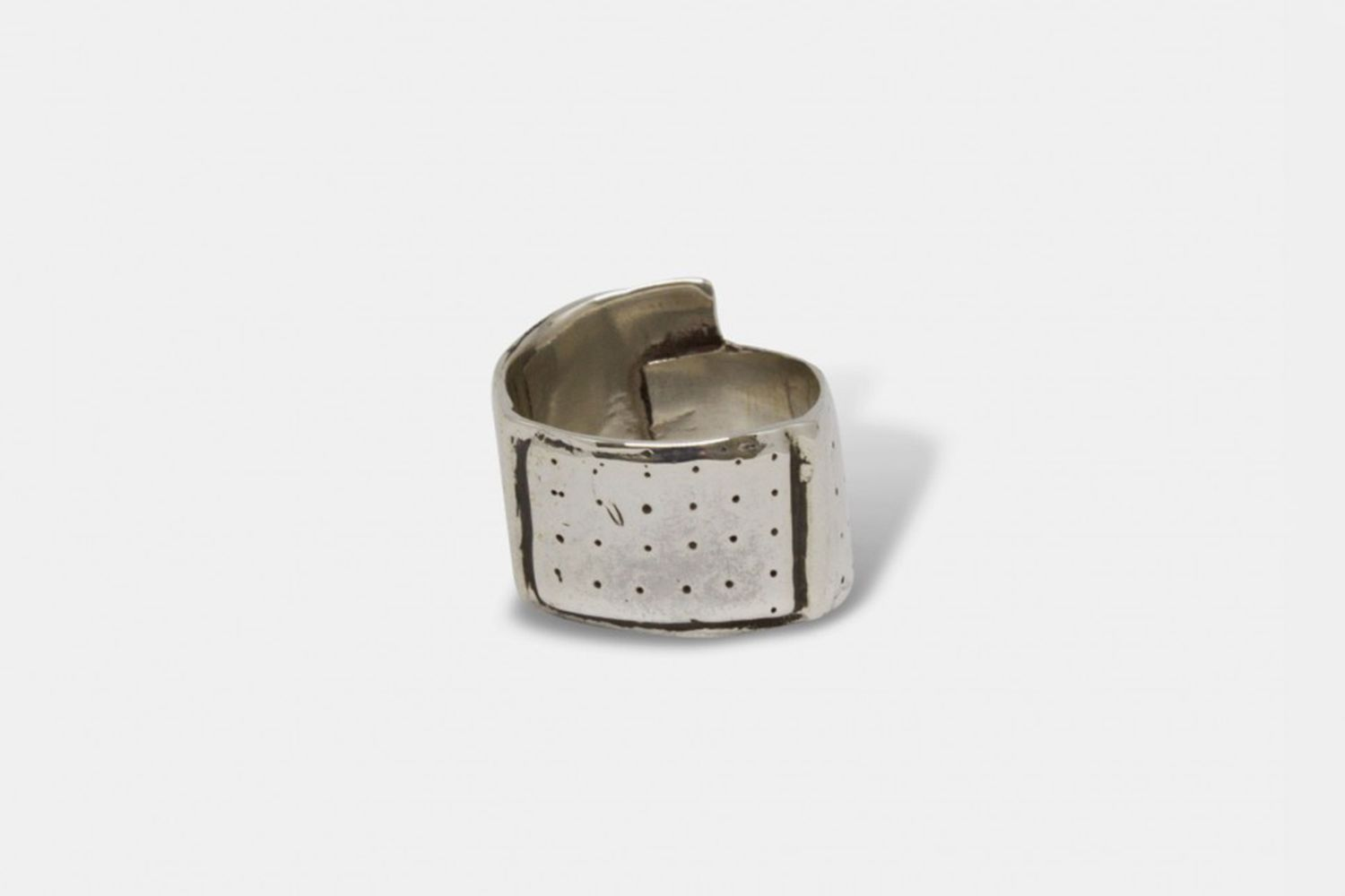 Mini Band-Aid Ring Silver by Michelle Lopez
