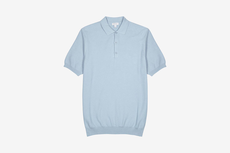 Fine-Knit Cotton Polo Shirt