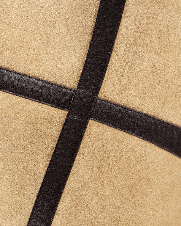 Acne Studios – Shearling Leather Jacket Almond Beige - Image 5