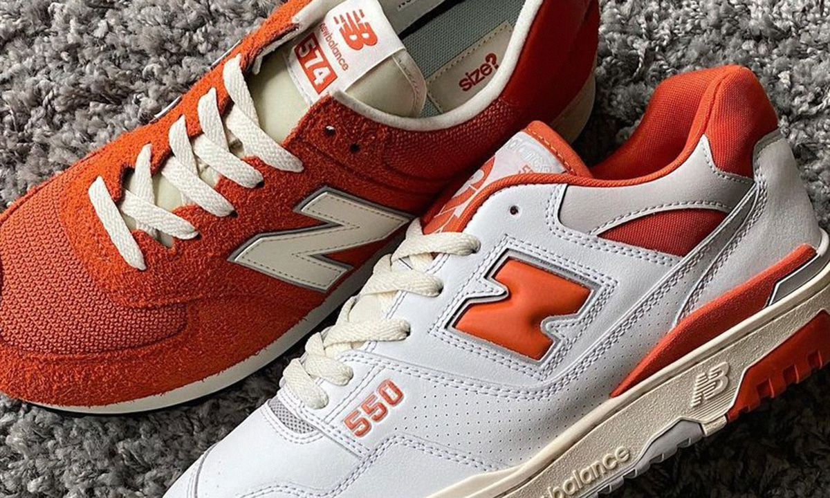 Size? Gives the Classic New Balance 550 a Zesty Touch Up