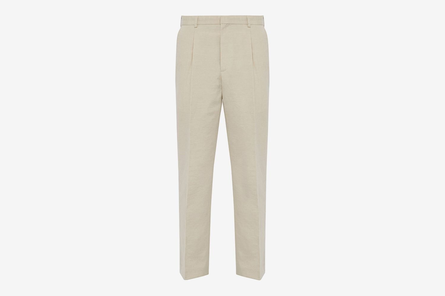 Yvan Mid-Rise Linen-Blend Trousers
