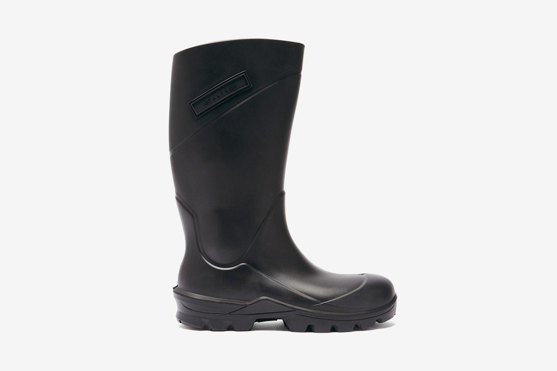 Logo-Plaque Rubber Rain Boots
