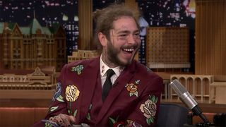 post malone sunflower fallon Spider-Man: Into the Spider-Verse The Tonight Show Starring Jimmy Fallon