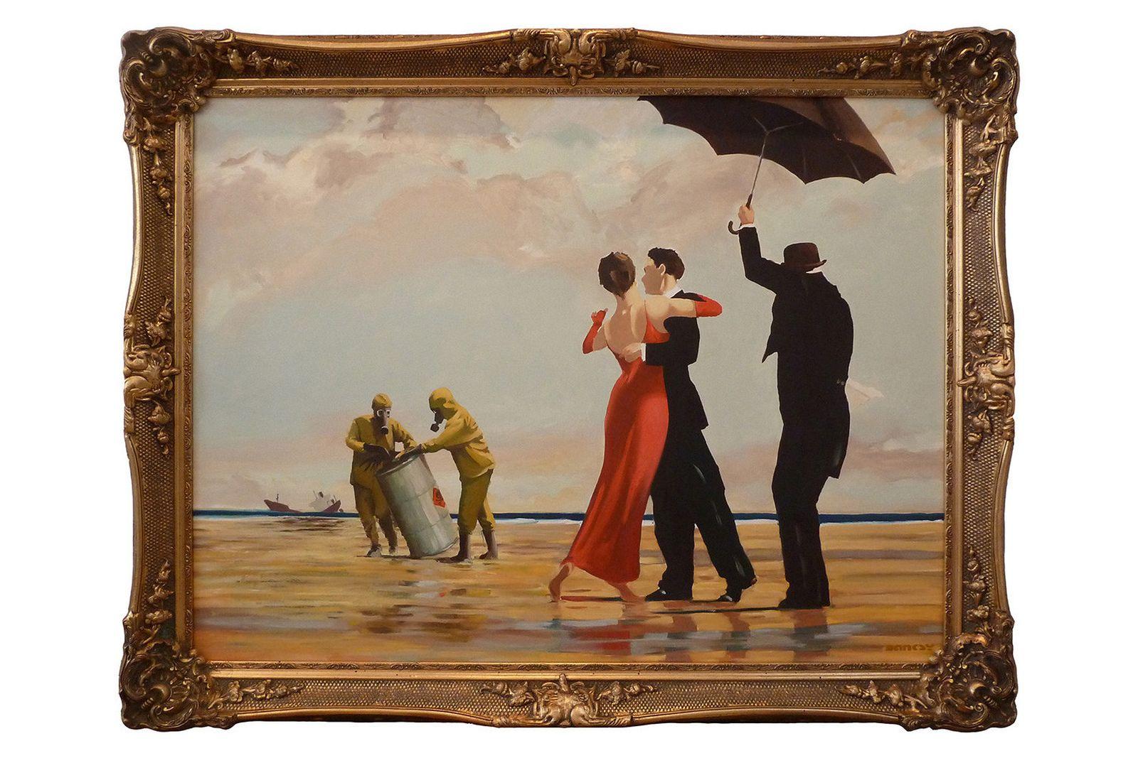 """Vettriano Beach Rescue [""""Lazinc banksy"""