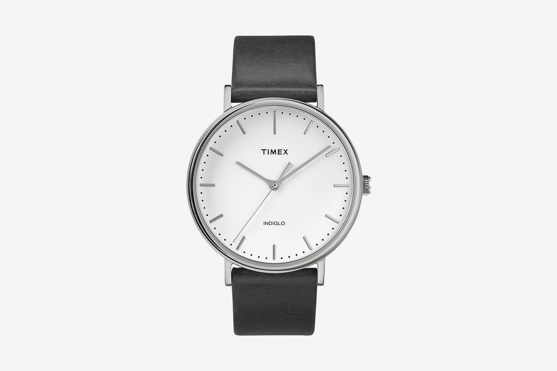 Fairfield Leather Strap Watch