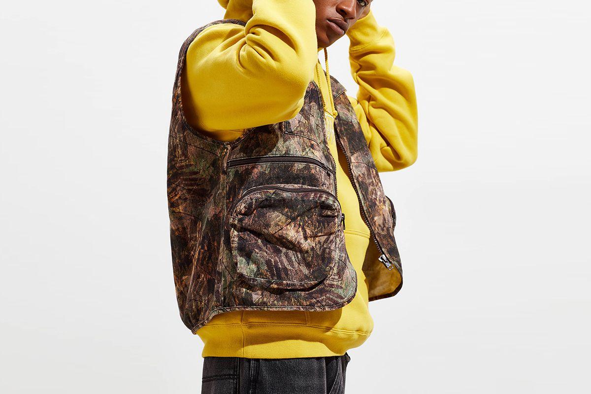 Leaf Print Camo Gilet Vest