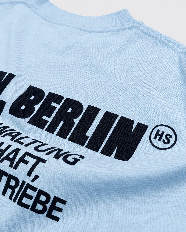 Highsnobiety x Berlin Berlin 2 – T-Shirt Blue - Image 4