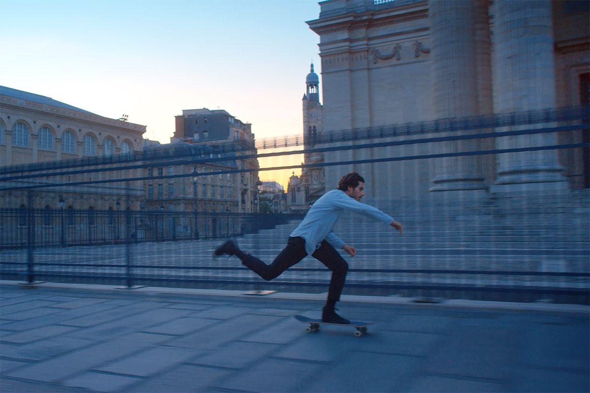 skateboarding the Louvre