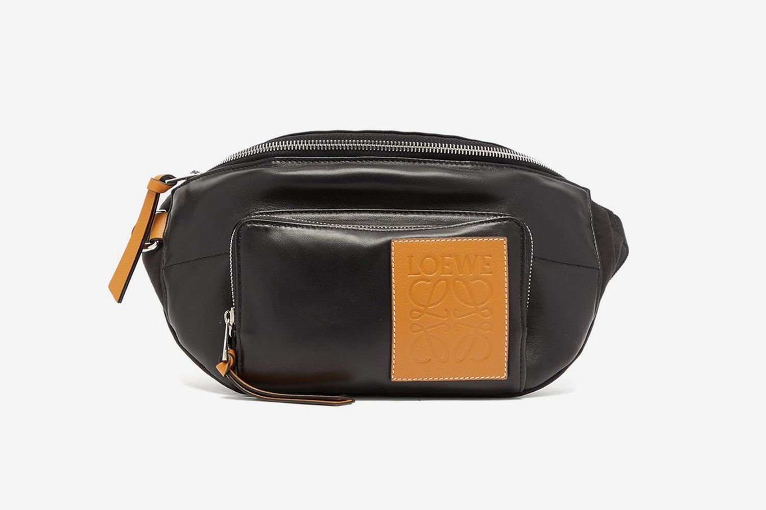 Anagram-Patch Leather Belt Bag