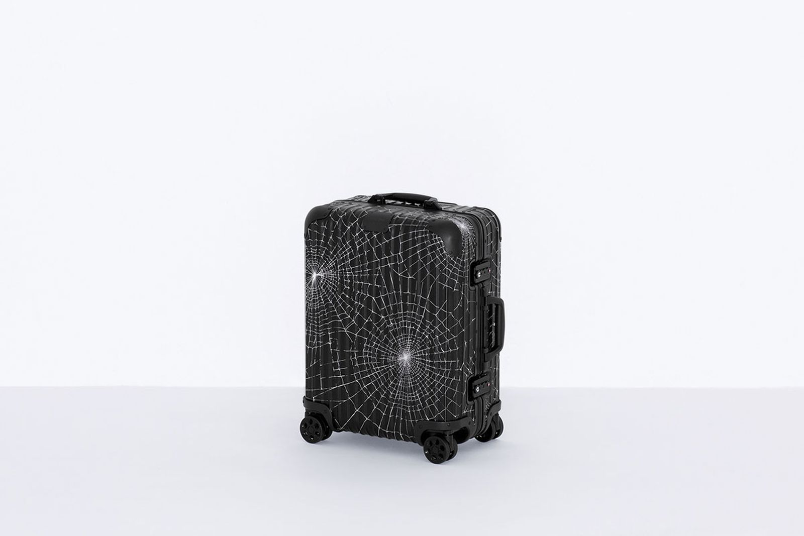 Supreme x RIMOWA luggage collection spider web