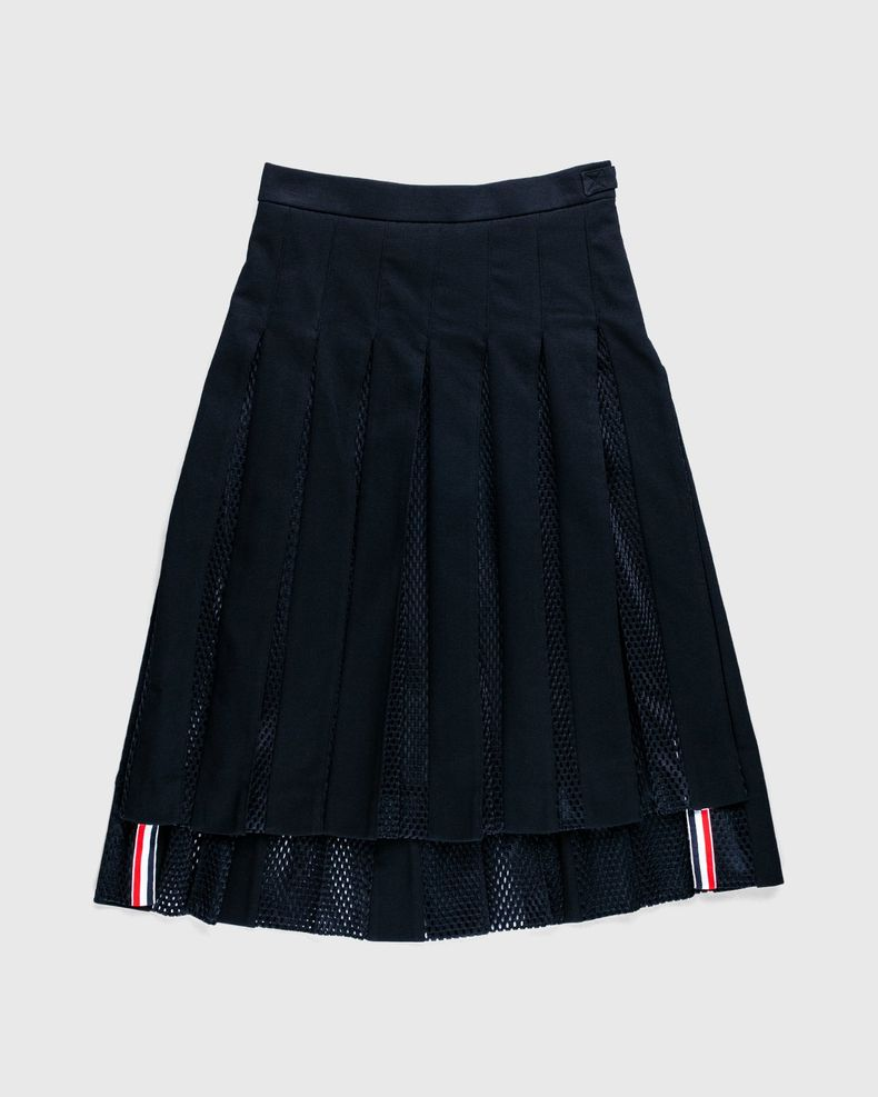 Thom Browne x Highsnobiety — Men's Pleated Mesh Skirt Black