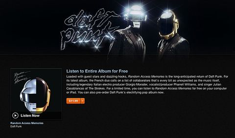 Stream the Entire New Daft Punk Album on iTunes Now 2