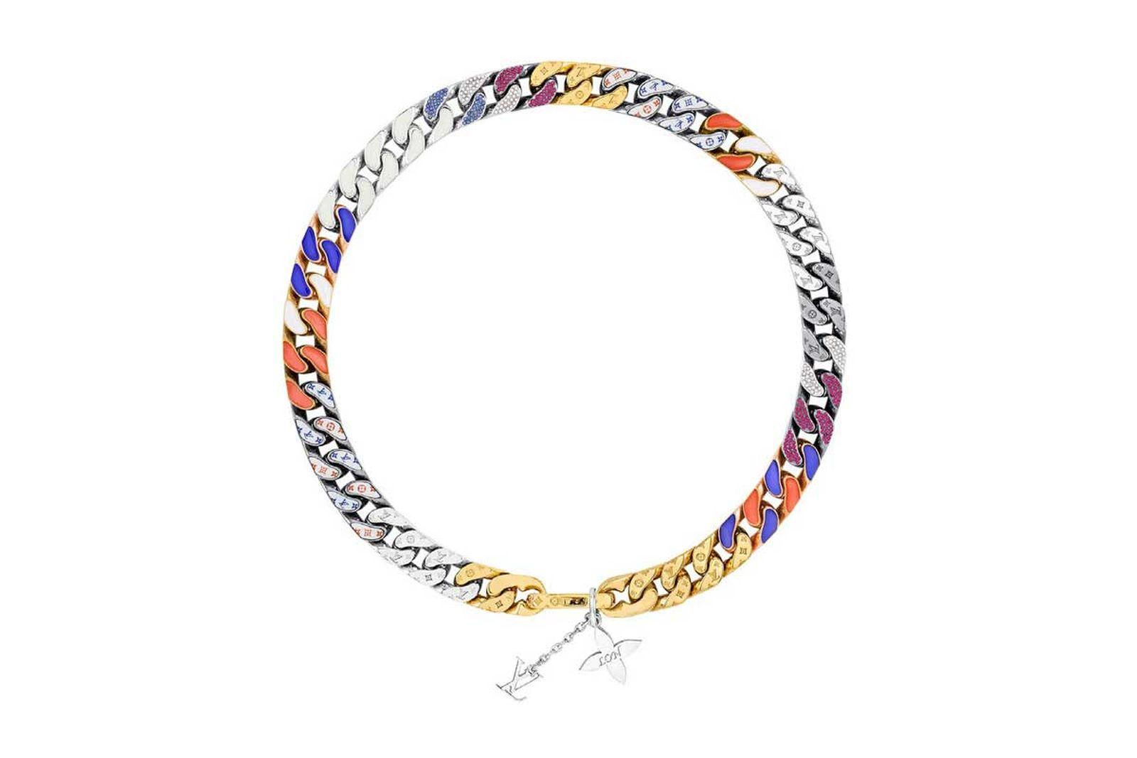 louis vuitton lv chain link neckalces (3)
