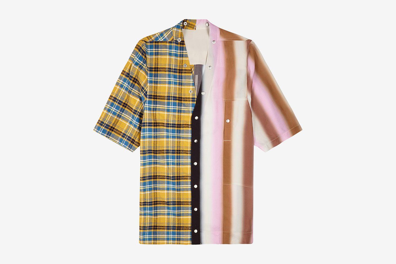 Faun Contrast-Print Paneled Shirt