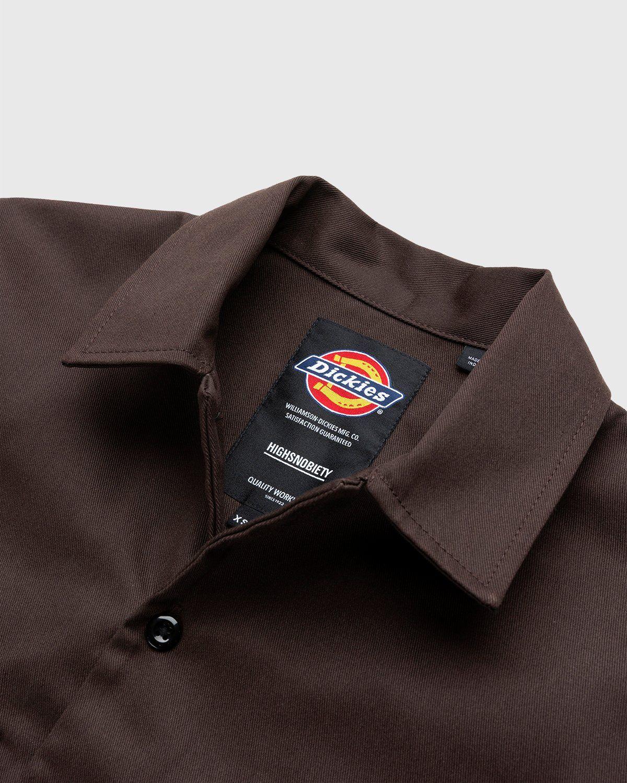 Highsnobiety x Dickies – Service Shirt Dark Brown - Image 3