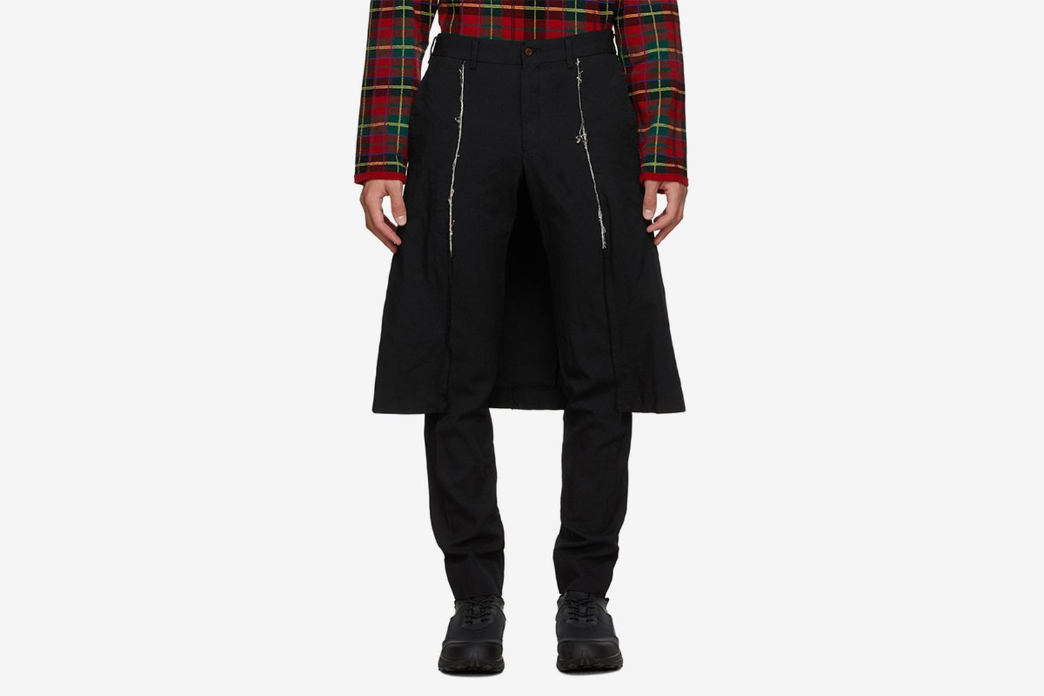 Thick Oxford Skirted Trousers