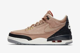 "73306f58a74f How   Where to Buy the ""Bio Beige"" Justin Timberlake x Nike Air Jordan III  Today"