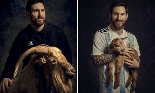 Lionel Messi Talks Being the Best & Poses With Goats for 'PAPER' Magazine