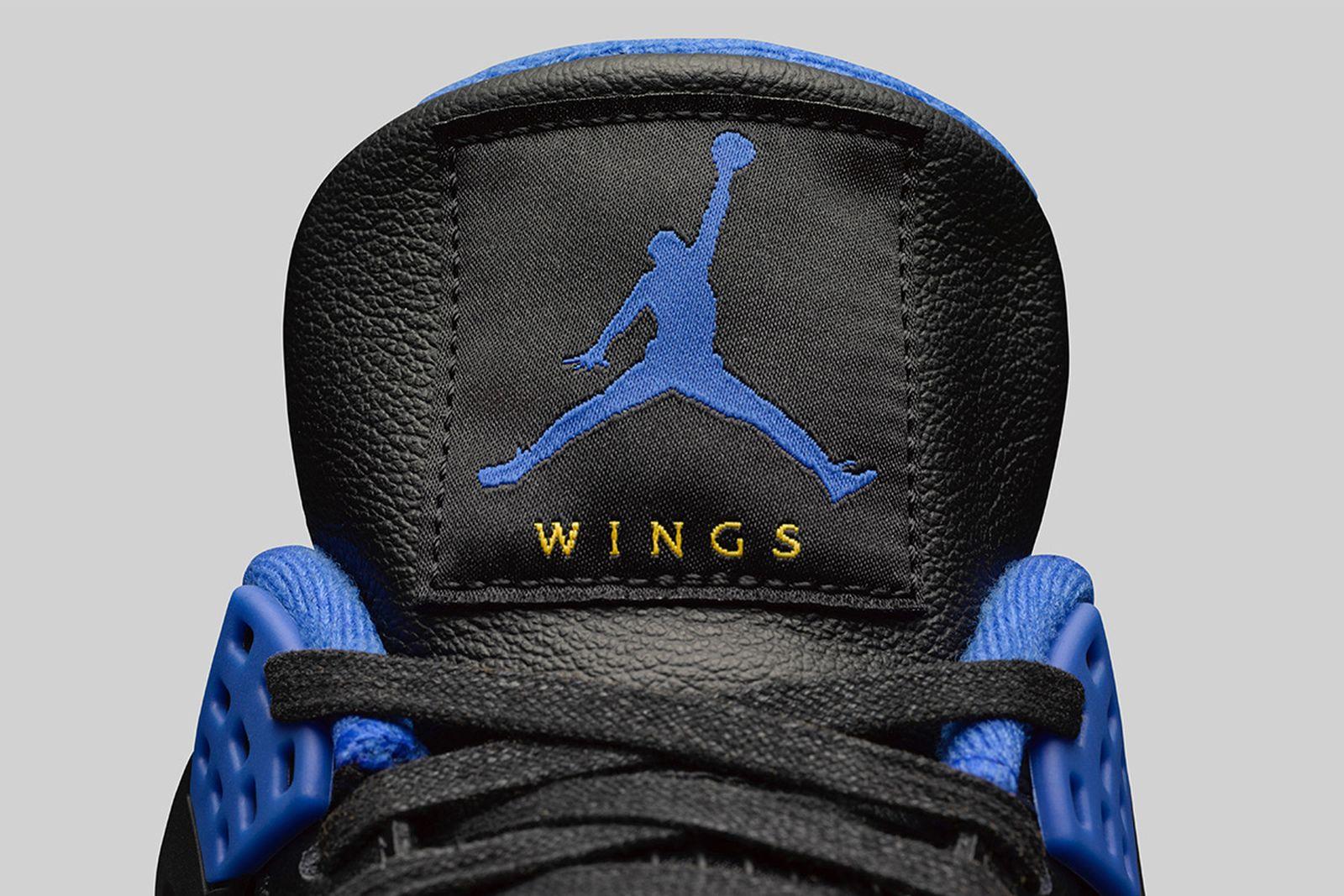 nike air jordan 4 wings closer look James Whitner jordan brand social status