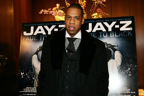 Jay-Z at 'Fade to Black' premiere