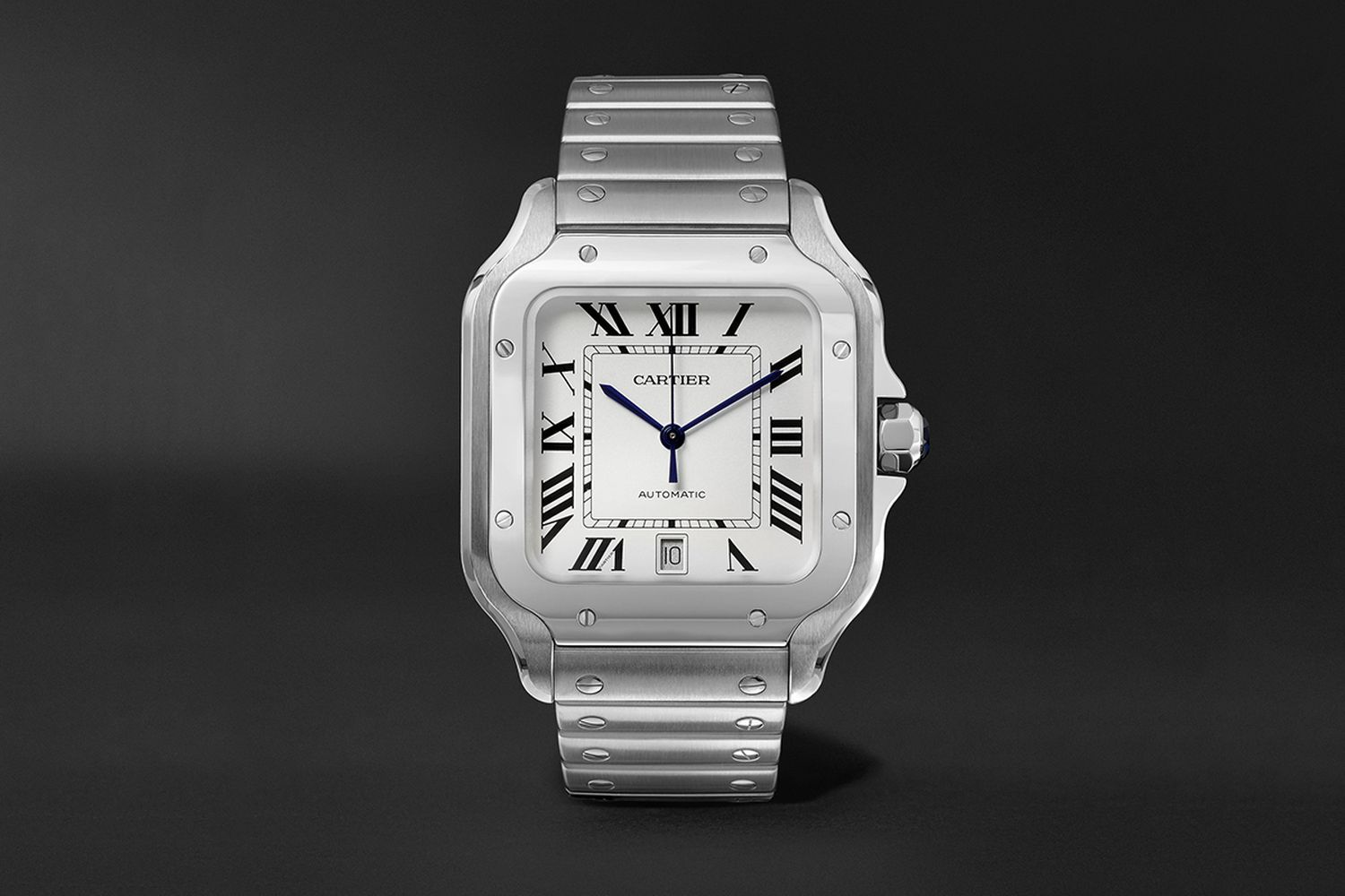 Santos 39.8mm Interchangeable Stainless Steel Watch