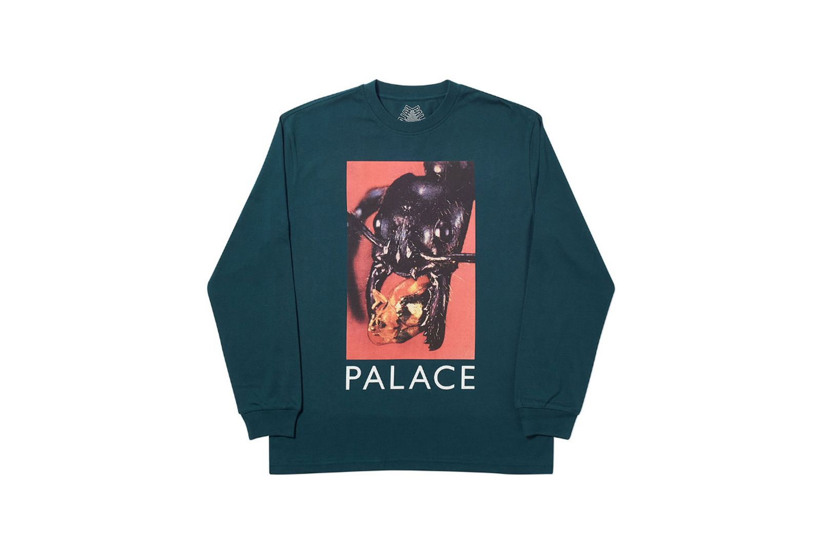 Palace 2019 Autumn Longsleeve T Shirt Bug Munch green 1369 ADJUSTED