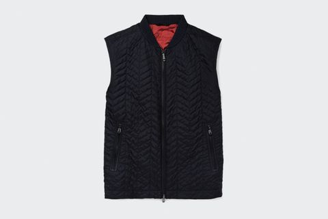 Quilted Silk Gilet