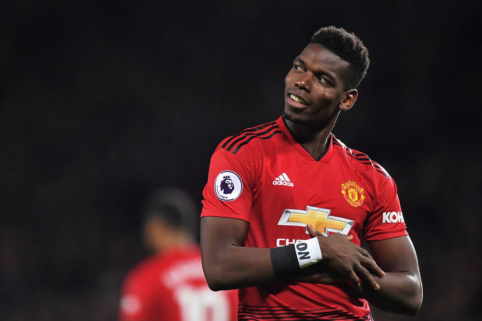 Paul Pogba of Manchester United celebrates scoring a goal