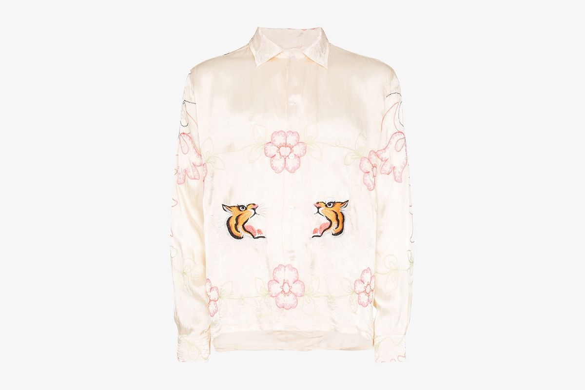 Tiger Ruching Souvenir Shirt